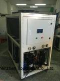 La prestazione eccellente efficiente di risparmio di potere ha messo in contenitori il refrigeratore di acqua raffreddato aria per il raffreddamento concreto