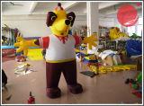 Mascotte gonfiabile C1-211 del cane del personaggio dei cartoni animati
