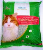 Litera de gato libre de polvo de la bentonita del sodio que agrupa