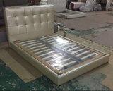 現代革ベッド、簡単なベッド(6027)