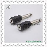 Stereolithographie-Stecker des Schwarz-6.35mm bis 3.5mm MonoJack