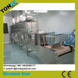 Máquina contínua da esterilização do secador da micrôonda do cogumelo da carne da erva do túnel