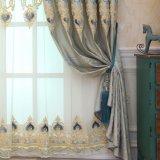 Polyester-Stickerei-Stromausfall-Fenster-Vorhang für Wohnzimmer (26W0028)