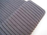 ウールのブレンドの重いステッチケーブルのニットの帽子のがっしりした帽子