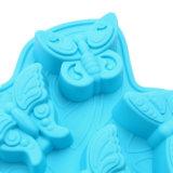 Molde material del silicón de la categoría alimenticia del certificado del FDA, 6PCS para diverso molde de /Chocolate del molde del pudín del silicón del diseño de la mariposa tres