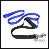 رخيصة متحمّل سوداء نيلون كلب رباط مع ليّنة بلاستيكيّة قبلة مقبض