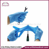 Medizinisches Wegwerfpuder-freie Nitril-Prüfungs-Handschuhe