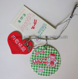 Boîte de empaquetage à chocolat de cadeau de papier de coeur avec la bande