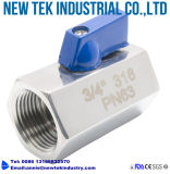 Aço inoxidável de válvula de esfera SS316 do Pneumatics da hidráulica mini