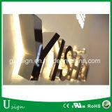 Напольно осветите вверх таможню доски знака имени магазина пем светлой коробки пем канала