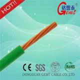 Hilo y solo alambre aislado PVC de interior de Thw del uso
