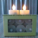 Pilier sans flammes décoratif DEL Tealights d'imitation multicolore à piles de Noël