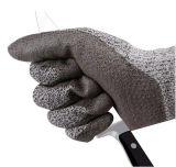 Датчик 13 связал перчатки ладони PU уровня 3 отрезока покрынные