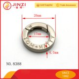 Пружинное кольцо верхнего сегмента оборудования сплава цинка для мешков и сувениров, подгонянного кольца весны