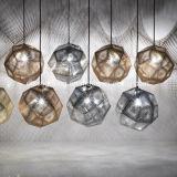 Europäische Art-Projekt-hängende Großhandelsbeleuchtung-rostfreie unregelmäßige runde Aufhebung-Lampe