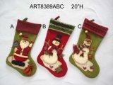 Medias de la Navidad del muñeco de nieve de Santa de la decoración de la Navidad, 3asst-