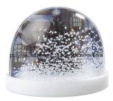 Globo plástico de la nieve con el imán en parte trasera