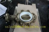 Tipo válvula del terminal del bronce de aluminio C95800 de mariposa con el asiento de PTFE