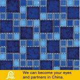 Mosaico de cerámica de la piscina de la viruta de la mezcla en blanco del negro azul