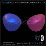 Color plástico material del PE que cambia el asiento recargable de la coma del LED
