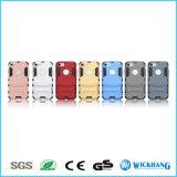 Caja rugosa híbrida a prueba de choques del teléfono de la armadura de la capa dual del hombre del hierro para el iPhone 6 7 más