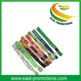 Bracelets de tissu tissés par polyester fait sur commande bon marché chaud de vente pour le sport
