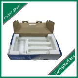 Caixa de papel ondulado de alta qualidade para computador com inserção de espuma