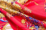 Écharpe chinoise faite sur commande de soie de sergé d'écharpe estampée par Digitals de modèle de logo