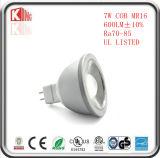 7W 630lm 찬 위조 알루미늄 구 5.3 LED MR16 전구 램프