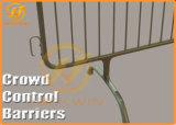 Barreira da cerca do ferro do controle de multidão para a segurança