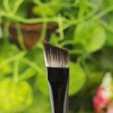 工場木のハンドルが付いている卸し売り安い斜めの眉毛の構成のブラシ
