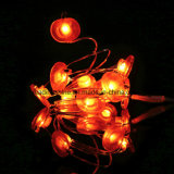Câblage cuivre étoilé rouge de lumières de la forme 60 DEL d'Apple pour la décoration à la maison de mariage d'usager de chambre à coucher