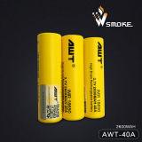 Awt initial (2600mAh/40A) prix usine de 18650 batteries