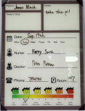 Vidrio del calendario de Whiteboard para las hojas de operación (planning)