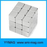 Magnetische Stuk speelgoed van de Kubus van NdFeB van het neodymium het Zilveren
