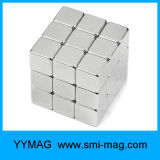 Juguete magnético de neodimio NdFeB Plata Cubo