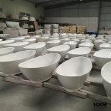 Banheira moderna autônoma de superfície contínua de Corian da alta qualidade
