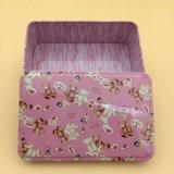 Rechteckiger Geschenk-Zinn-Kasten-süsser Süßigkeit-Kasten-Schmucksache-Kasten