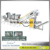 Botón automático, broche de presión de metal, máquina de embalaje de los cartones del tirador de la cremallera