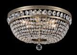 Lâmpada de cristal do teto do candelabro de Glod com economia de energia