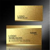 Sellado de oro caliente de la tarjeta de visita Hoja plástica