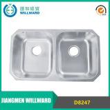 Doppelte Filterglocke-Edelstahl-Küche-Wanne der Filterglocke-zwei