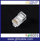 CAT6 UTP 8p8c Unshielded RJ45 modulares conetam o plugue