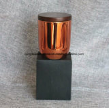 شمع ملأ [روس] نحاسة زجاجيّة مرطبان شمعة لأنّ ترقية زخرفة