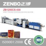 Saco de papel de alimentação da folha Zb1200CS-430 que faz a máquina para o saco de compra