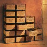 Het houten Rek van de Doos van de Drank en van de Opslag van de Vertoning van de Fles van de Wijn