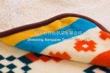 Gedrucktes korallenrotes Vlies mit Shu Baumwollsamt-Baby-Zudecke/Sherpa Baby-Zudecke