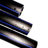 Encanamento do dreno do plástico de polietileno do alto densidade do padrão de ISO