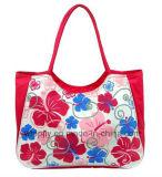 A flor bonita denomina o saco do lazer do saco da praia