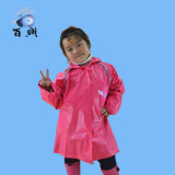 Raincoat do miúdo impresso costume do PVC